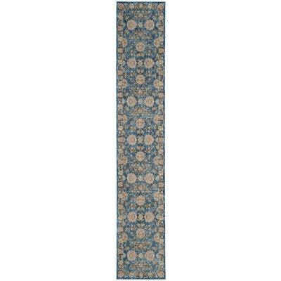 Elvie Brown/ Blue Area Rug Rug Size: Runner 22 x 10