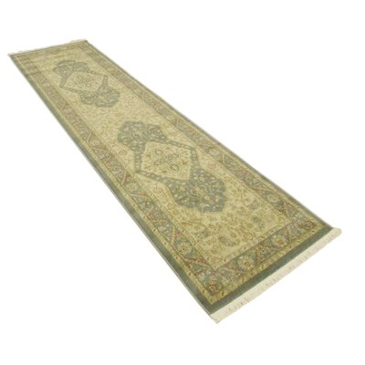 Jamar Blue/Cream Area Rug Rug Size: Runner 27 x 10
