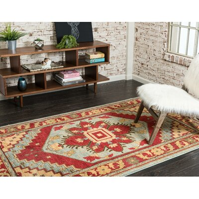 Jana Red Oriental Area Rug Rug Size: Rectangle 33 x 53