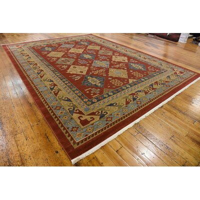Jana Red Tibetan Area Rug Rug Size: Rectangle 12'2