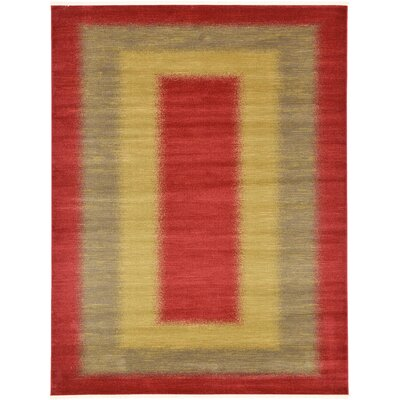 Jan Red Area Rug Rug Size: Rectangle 7 x 10