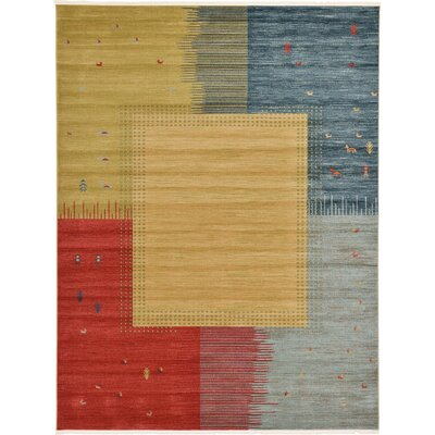 Jan Tan Indoor/Outdoor Area Rug Rug Size: Rectangle 9 x 12