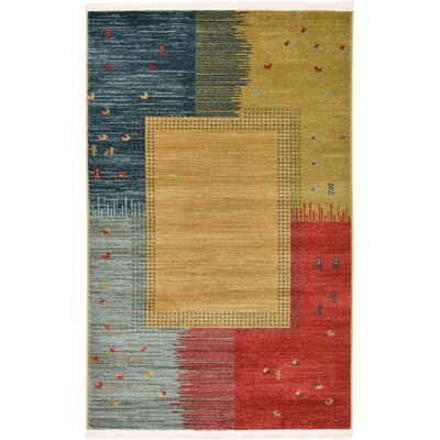 Jan Tan Indoor/Outdoor Area Rug Rug Size: Rectangle 5 x 8