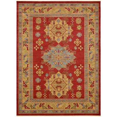 Jana Red Area Rug Rug Size: Rectangle 910 x 13