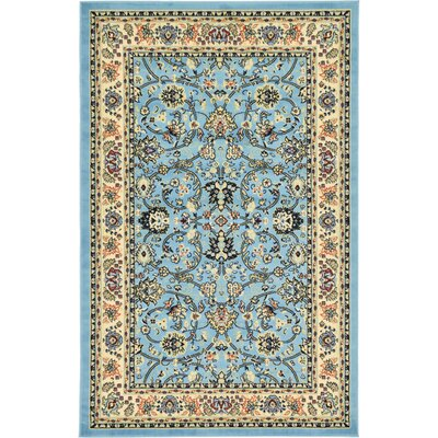 Jeanelle Light Blue Oriental Area Rug Rug Size: Rectangle 51 x 8