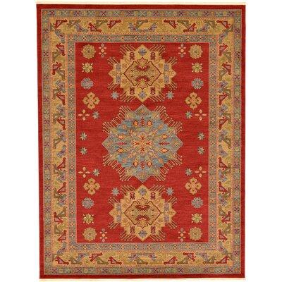 Jana Red Area Rug Rug Size: Rectangle 9 x 12