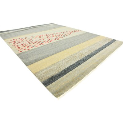 Jan Blue/Red/Beige Area Rug Rug Size: Rectangle 7 x 10