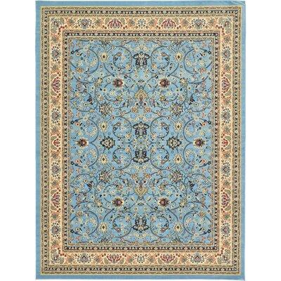 Jeanelle Light Blue Oriental Area Rug Rug Size: Rectangle 910 x 13