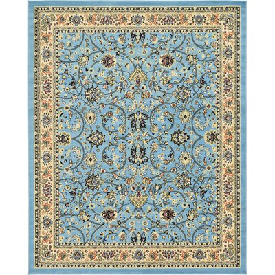 Essehoul Light Blue Oriental Area Rug Rug Size: Rectangle 8 x 10