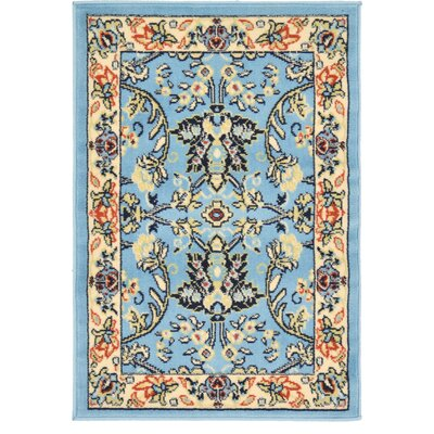 Essehoul Light Blue Oriental Area Rug Rug Size: Rectangle 22 x 3