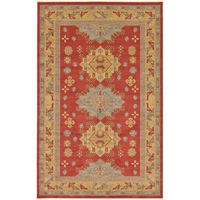 Jana Red Area Rug Rug Size: Rectangle 106 x 165