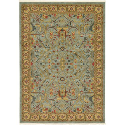 Sina Light Blue Area Rug Rug Size: Rectangle 9 x 12