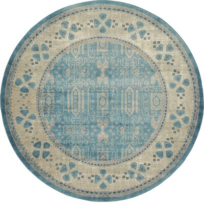Jaiden Blue/Brown Area Rug Rug Size: Rectangle 5 x 8