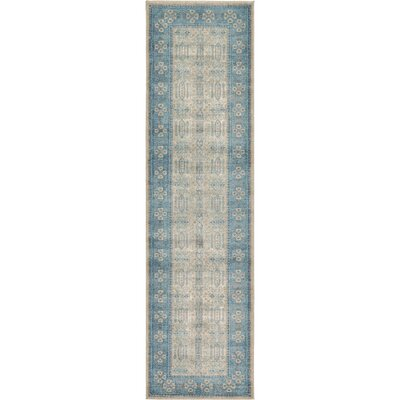 Brierfield Beige/Blue Area Rug Rug Size: Runner 27 x 10
