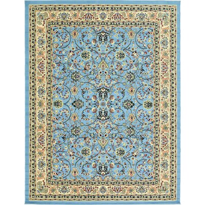 Jeanelle Light Blue Oriental Area Rug Rug Size: Rectangle 9 x 12