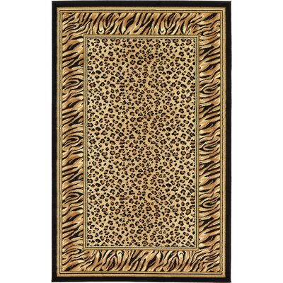 Jaina Light Brown Area Rug Rug Size: Round 4