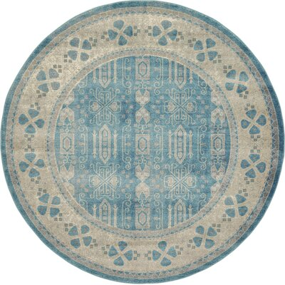 Brierfield Blue/Brown Area Rug Rug Size: Round 73