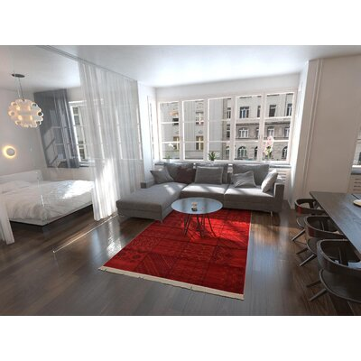 Ivette Red Area Rug Rug Size: Rectangle 5 x 8