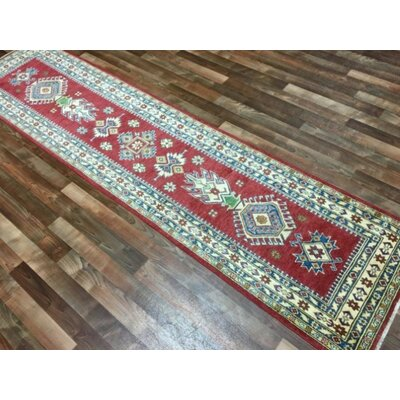 One-of-a-Kind Abbotsford Traditional Oriental Hand Woven Wool Red/Green/Blue Area Rug