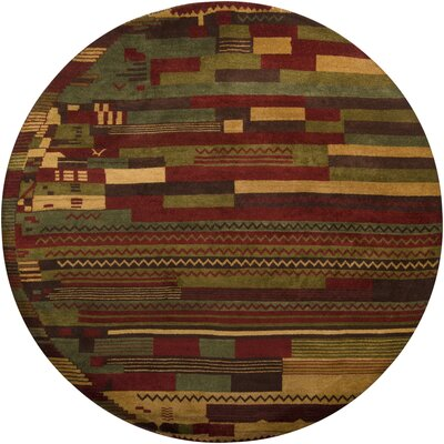 Gracen Knotted Area Rug Rug Size: Round 79