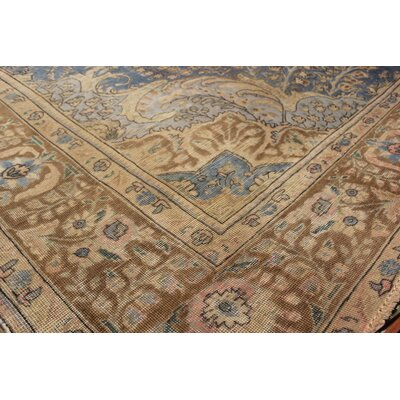 Belfield Hand-Knotted Wool Blue/Brown Indoor Area Rug