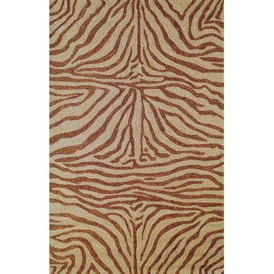 Abboud Brown Zebra Outdoor Rug Rug Size: Rectangle 5 x 76