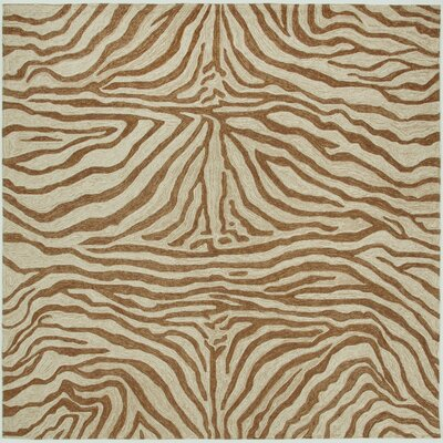 Fellman Brown Zebra Outdoor Rug Rug Size: Square 8