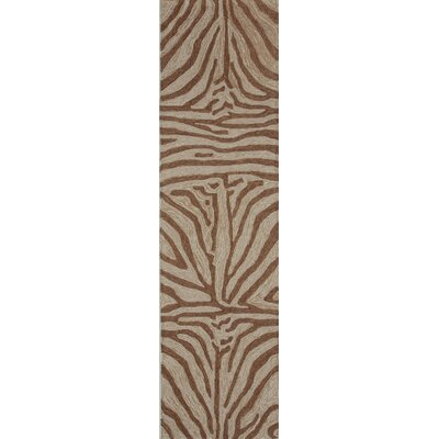 Fellman Brown Zebra Outdoor Rug Rug Size: Runner 2 x 8