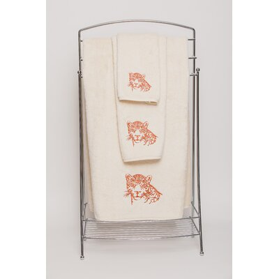 Karlyn Leopard Embellished Bath Towel Color: Ivory