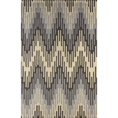 Flanary Hand-Tufted Steel Gray Area Rug Rug Size: Rectangle 5 x 8