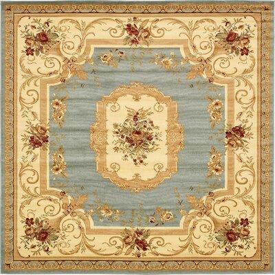 Jan Beige Color Bordered Area Rug Rug Size: Square 10