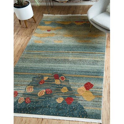 Jan Gray/Yellow Area Rug Rug Size: Rectangle 8' x 10'