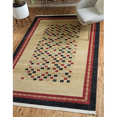 Jan Beige Area Rug Rug Size: Rectangle 7 x 10