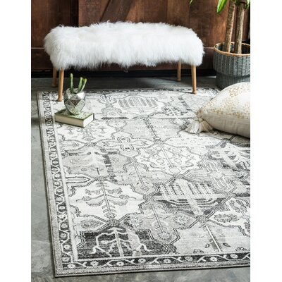 Irma Gray Geometric Area Rug Rug Size: Rectangle 33 x 53