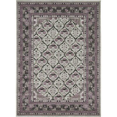 Irma Light Gray Area Rug Rug Size: Rectangle 8 x 11