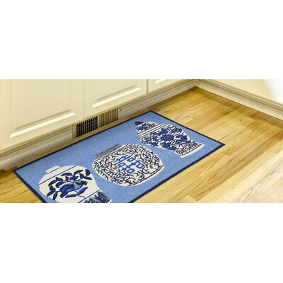 Ardelle Ginger Jars Handmade Blue Indoor/Outdoor Area Rug Rug Size: Rectangle 18 x 26