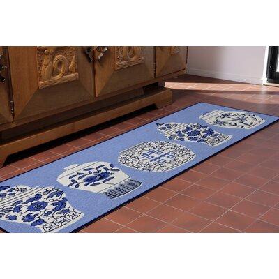 Ardelle Ginger Jars Handmade Blue Indoor/Outdoor Area Rug Rug Size: Runner 23 x 6