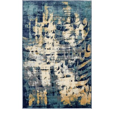 Jani Traditional Beige/Blue Abstract Area Rug Rug Size: Rectangle 8 x 10