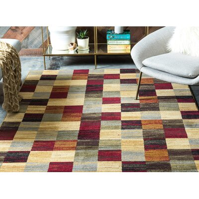 Jaidan Brown/Beige Geometric Area Rug Rug Size: Rectangle 8 x 10