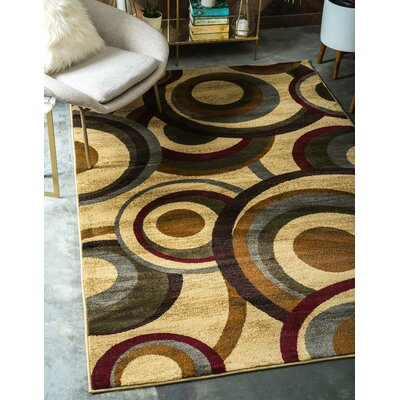 Jaidan Beige Area Rug Rug Size: Rectangle 22 x 3