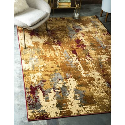 Jaidan Traditional Beige Abstract Area Rug Rug Size: Runner 22 x 6