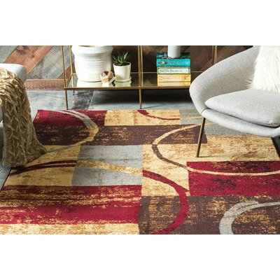 Jaidan Brown/Gray Area Rug Rug Size: Rectangle 4 x 6