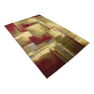 Jaidan Brown/Beige Area Rug Rug Size: Rectangle 5 x 8