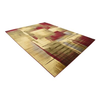Jaidan Brown/Beige Area Rug Rug Size: Rectangle 9 x 12