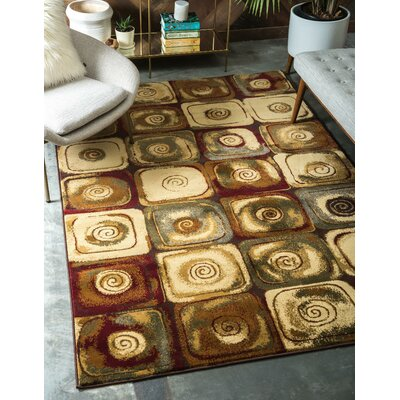 Jaidan Traditional Beige Geometric Area Rug Rug Size: Rectangle 9 x 12