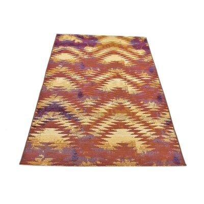 Avina Red Indoor/Outdoor Area Rug Rug Size: Rectangle 4 x 6