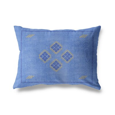 Keana Lumbar Pillow Color: Blue/ Yellow