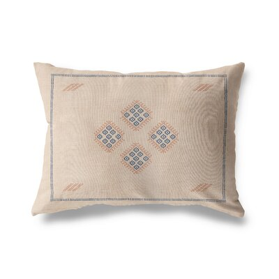 Keana Lumbar Pillow Color: Cream/ Blue