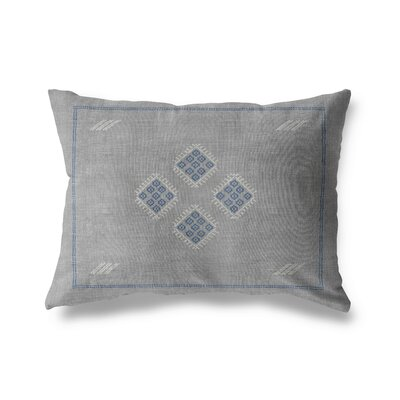Keana Lumbar Pillow Color: Grey/ Blue