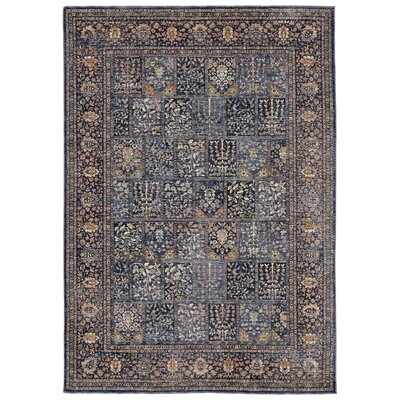 Rosana Blue/Gray Area Rug Rug Size: Runner 111 x 74